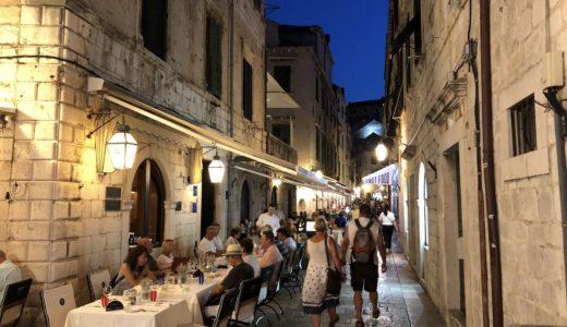 クロアチアの旅:ドゥブロブニクのレストラン・食事