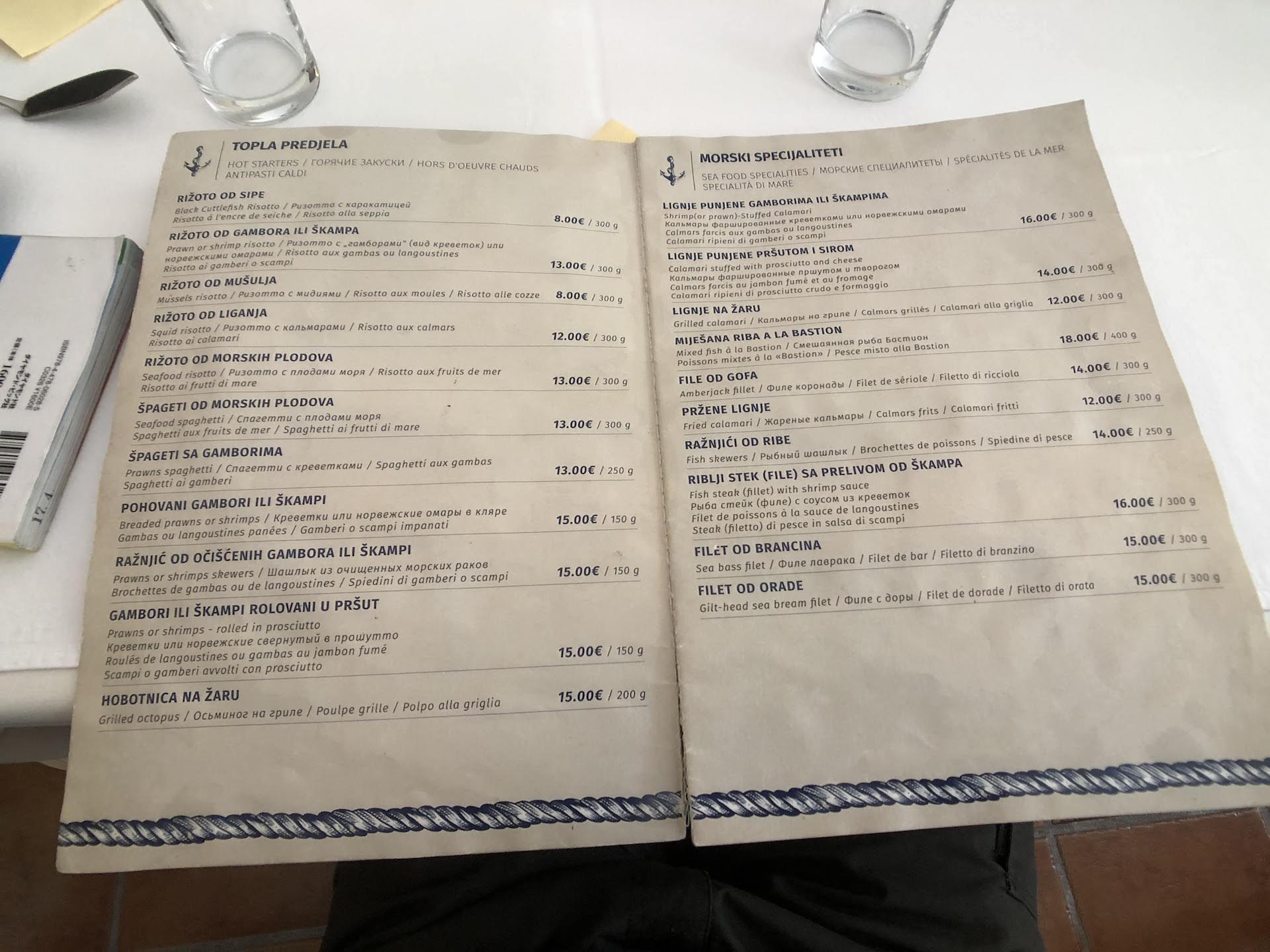 コトル レストラン