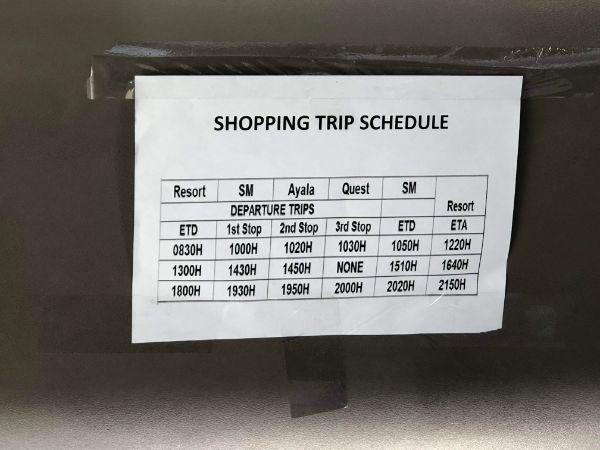 クリムゾンリゾートセブマクタン-送迎・シャトルバス・レストラン